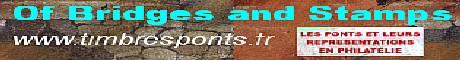 Les ponts et leurs représentations en philatélie <b>« Of Bridges and Stamps »</b><br /> Philatélie (liste des parutions depuis 2004) cartes postales et autres documents …,<br /> Presque tout sur les ponts: architecture, ingénierie, Art, histoire et relations humaines, mail-art, articles spécialisés. J'ai essayé au moyen de ce site, qui s'étoffe de semaine en semaines, d'établir un petit florilège des ponts à travers leurs représentations en philatélie, domaine symbolique s'il en est, des « ponts » culturels et universels qui tentent de relier et d'unir les hommes. Si ce site, ne se veut pas une encyclopédie exhaustive, mais plutôt une passerelle vers le savoir, la curiosité et la culture, il renferme néanmoins dorénavant, avec des mises à jour hebdomadaires,  près de 15000 images réparties sur plus de 500 pages, des listes, des articles hébergés le complètent..