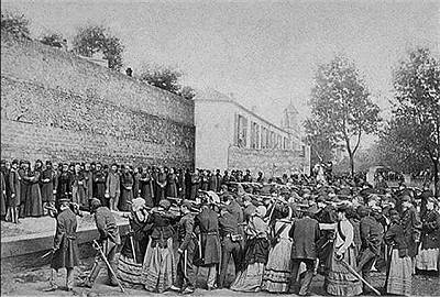 Exécutions au temps de la commune, 1871