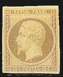 France : 10c bistre type Napoléon III