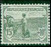 France : 15c + 10c gris-vert 1ère série Orphelins