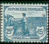 France : 25c + 15c bleu 1ère série Orphelins