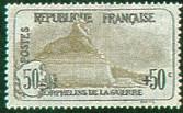France : 50c + 50c brun 1ère série Orphelins