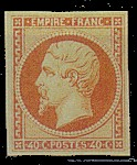 France : 40c jaune-orange type Napoléon III