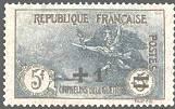 France :  +1f sur 5f + 5f noir et bleu 2ème série orphelins