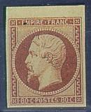 France : 80c carmin foncé type Napoléon III