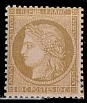 France : 10c bistre-jaune  Cérès