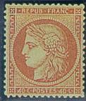 France : 40c orange type Cérès